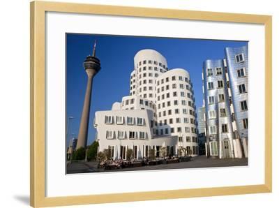 The Neuer Zollhof Building, Media Harbor, Dusseldorf, Germany-Peter Adams-Framed Photographic Print