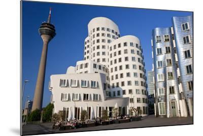 The Neuer Zollhof Building, Media Harbor, Dusseldorf, Germany-Peter Adams-Mounted Photographic Print