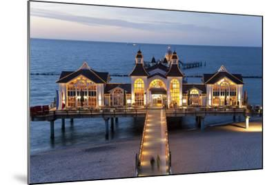 Pier at Sellin, Rugen Island, Mecklenburg-Vorpommern, Germany-Peter Adams-Mounted Photographic Print