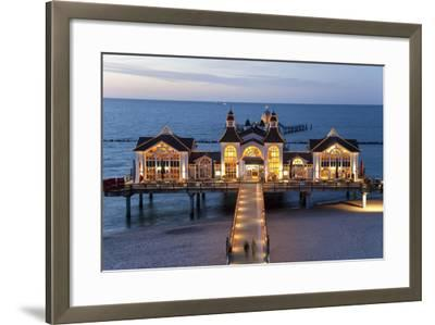 Pier at Sellin, Rugen Island, Mecklenburg-Vorpommern, Germany-Peter Adams-Framed Photographic Print