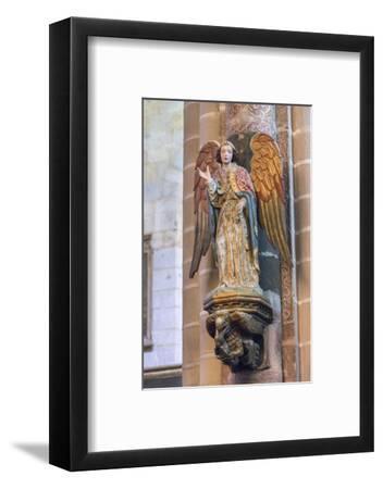 Portugal, Evora, Cathedral of Evora, Angel Statue-Jim Engelbrecht-Framed Photographic Print