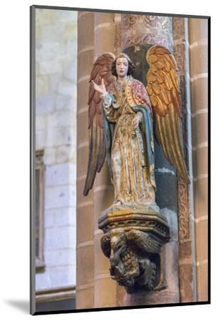 Portugal, Evora, Cathedral of Evora, Angel Statue-Jim Engelbrecht-Mounted Photographic Print