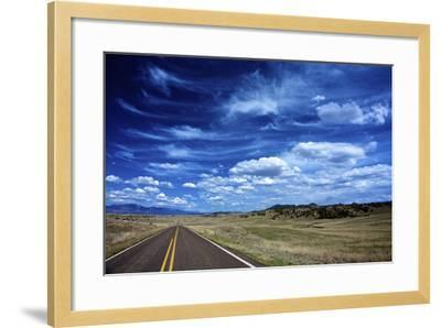 Highway 78, New Mexico, High Alpine Grasslands and Clouds-Richard Wright-Framed Photographic Print