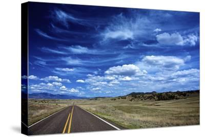 Highway 78, New Mexico, High Alpine Grasslands and Clouds-Richard Wright-Stretched Canvas Print
