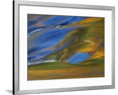 Michigan. Trees Reflect in Cascade Above Bond Falls, Ontonagon River-Julie Eggers-Framed Photographic Print