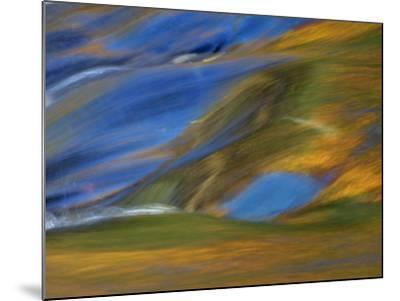 Michigan. Trees Reflect in Cascade Above Bond Falls, Ontonagon River-Julie Eggers-Mounted Photographic Print