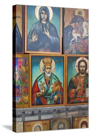 Bulgaria, Sofia, Souvenir Icons for Sale-Walter Bibikow-Stretched Canvas Print