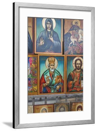 Bulgaria, Sofia, Souvenir Icons for Sale-Walter Bibikow-Framed Photographic Print