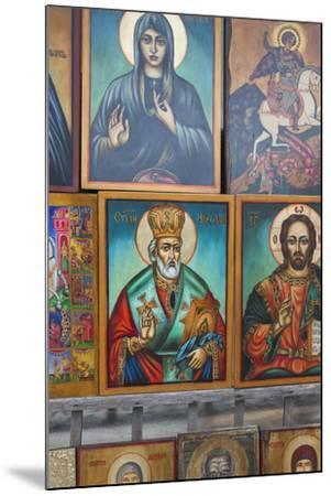 Bulgaria, Sofia, Souvenir Icons for Sale-Walter Bibikow-Mounted Photographic Print