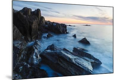 Dawn, Rocks, and Surf. Wallis Sands State Park, Rye, New Hampshire-Jerry & Marcy Monkman-Mounted Photographic Print
