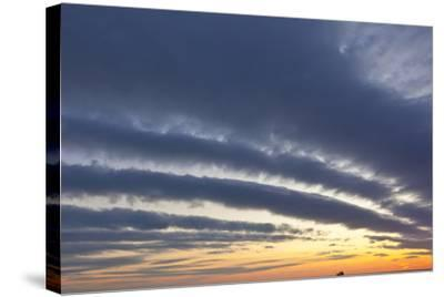 A Ship under Clouds over the Atlantic Ocean, Rye, New Hampshire-Jerry & Marcy Monkman-Stretched Canvas Print