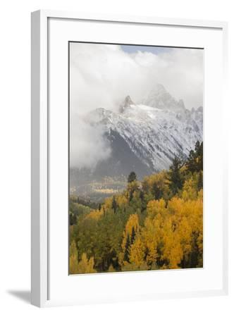Colorado, Sneffels Range. Snow Clouds over Mt Sneffels at Sunset-Don Grall-Framed Photographic Print