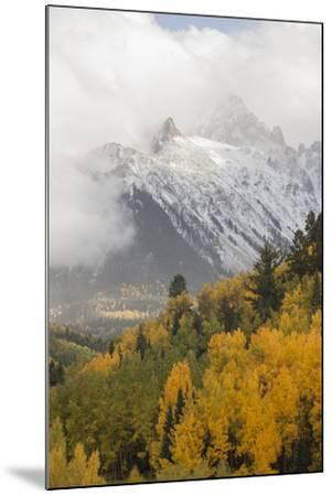 Colorado, Sneffels Range. Snow Clouds over Mt Sneffels at Sunset-Don Grall-Mounted Photographic Print