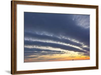 A Ship under Clouds over the Atlantic Ocean, Rye, New Hampshire-Jerry & Marcy Monkman-Framed Photographic Print