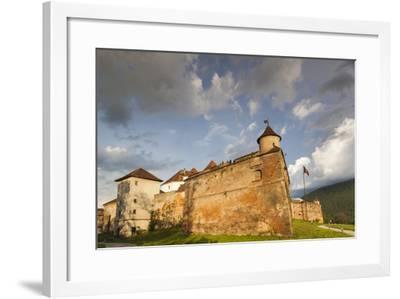 Romania, Transylvania, Brasov, Brasov Citadel, Sunset-Walter Bibikow-Framed Photographic Print