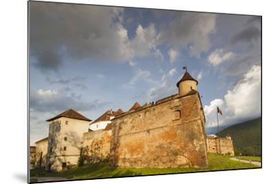 Romania, Transylvania, Brasov, Brasov Citadel, Sunset-Walter Bibikow-Mounted Photographic Print