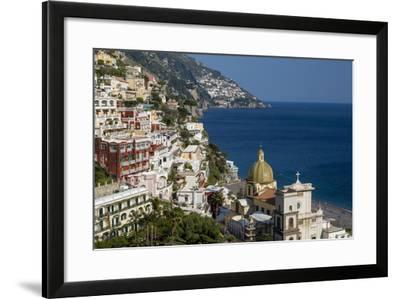 View Along the Amalfi Coast of the Town of Positano, Campania Italy-Brian Jannsen-Framed Photographic Print