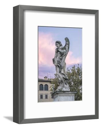 Europe, Italy, Rome, Angel Statue on Ponte Sant'Angelo at Sunset-Rob Tilley-Framed Photographic Print