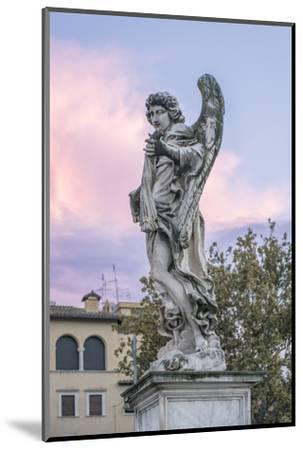 Europe, Italy, Rome, Angel Statue on Ponte Sant'Angelo at Sunset-Rob Tilley-Mounted Photographic Print
