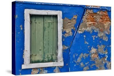Shuttered Windows Burano, Italy-Darrell Gulin-Stretched Canvas Print