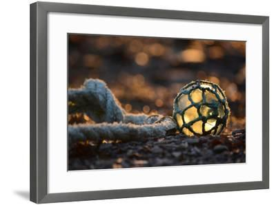 USA, Southeast Alaska Near Ketchikan, Japanese Glass Fishing Float-Savanah Stewart-Framed Photographic Print