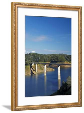 Archie Stevenot Bridge Carrys SR 49 across New Melones Dam, California-David Wall-Framed Photographic Print