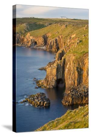 Sunset over the Cliffs Near Lands End, Cornwall, England-Brian Jannsen-Stretched Canvas Print
