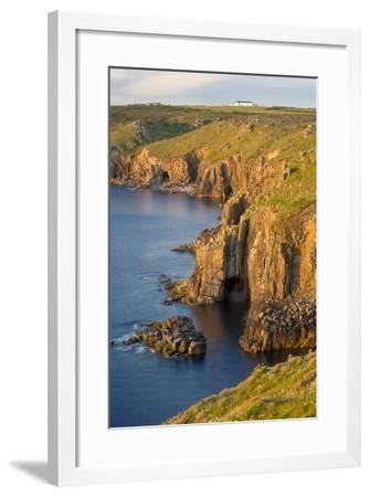 Sunset over the Cliffs Near Lands End, Cornwall, England-Brian Jannsen-Framed Photographic Print