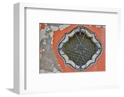 Ornate Window Design, Burano Italy-Darrell Gulin-Framed Photographic Print