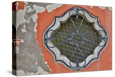 Ornate Window Design, Burano Italy-Darrell Gulin-Stretched Canvas Print