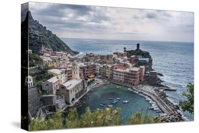 Italy, Cinque Terre, Vernazza-Rob Tilley-Stretched Canvas Print