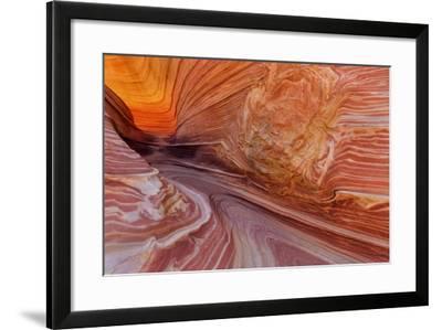 Sandstone at the Wave in the Vermillion Cliffs Wilderness, Arizona-Chuck Haney-Framed Photographic Print