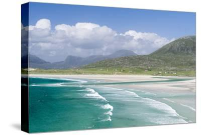 Seilebost Beach on South Harris, Sound of Transay. Scotland-Martin Zwick-Stretched Canvas Print