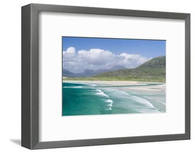 Seilebost Beach on South Harris, Sound of Transay. Scotland-Martin Zwick-Framed Photographic Print