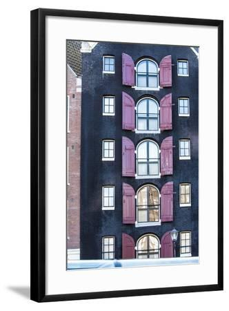 A Dutch Colonial Style Home on Street of Amsterdam-Sheila Haddad-Framed Photographic Print