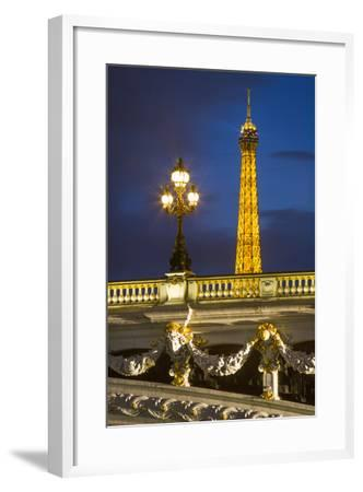 Pont Alexandre III with the Eiffel Tower Looming Beyond, Paris France-Brian Jannsen-Framed Photographic Print