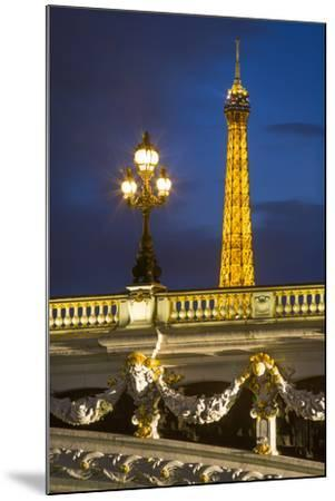 Pont Alexandre III with the Eiffel Tower Looming Beyond, Paris France-Brian Jannsen-Mounted Photographic Print
