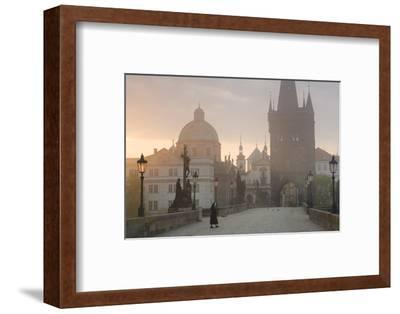 Charles Bridge at Dawn, Prague, Czech Republic-Peter Adams-Framed Photographic Print