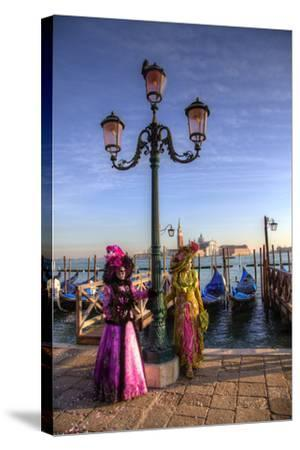 Venice, Italy. Mask and Costumes at Carnival-Darrell Gulin-Stretched Canvas Print