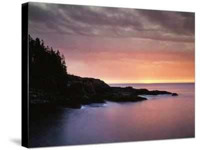 USA, Maine, Acadia National Park, Sunrise over the Atlantic Ocean-Christopher Talbot Frank-Stretched Canvas Print