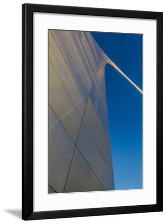 The Gateway Arch in St. Louis, Missouri at Sunrise. Jefferson Memorial-Jerry & Marcy Monkman-Framed Photographic Print