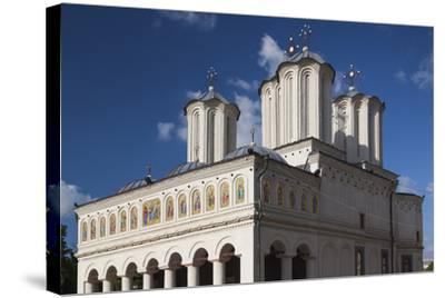 Romania, Bucharest, Romanian Patriarchal Cathedral, Exterior-Walter Bibikow-Stretched Canvas Print