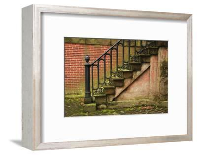 USA, Georgia, Savannah, Steps in the Historic District-Joanne Wells-Framed Photographic Print