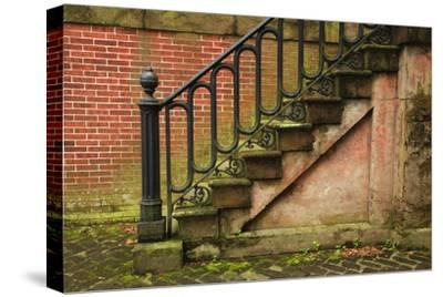 USA, Georgia, Savannah, Steps in the Historic District-Joanne Wells-Stretched Canvas Print