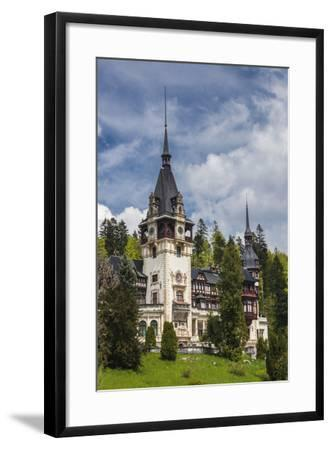 Romania, Transylvania, Sinaia, Peles Castle, Built 1875-1914-Walter Bibikow-Framed Photographic Print