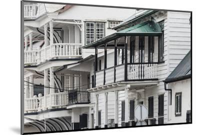 Colonial House in the Historic Center of Paramaribo (UNESCO), Suriname-Keren Su-Mounted Photographic Print