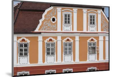 Romania, Transylvania, Sibiu, Piata Mare Square, Building Detail-Walter Bibikow-Mounted Photographic Print