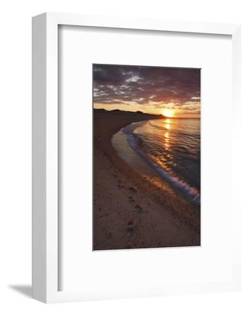 Sunset over Meadow Beach, Cape Cod National Seashore, Massachusetts-Jerry & Marcy Monkman-Framed Photographic Print