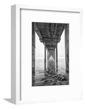 USA, California, La Jolla, Scripps Pier, Sunrise-John Ford-Framed Photographic Print