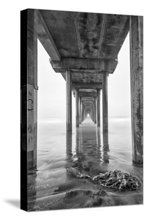 USA, California, La Jolla, Scripps Pier, Sunrise-John Ford-Stretched Canvas Print